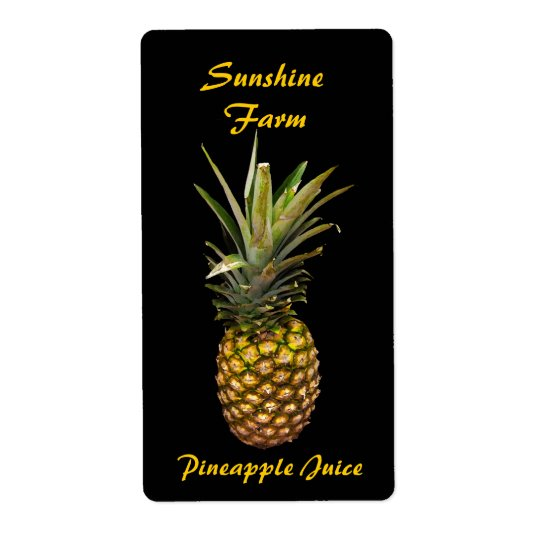 Pineapple Juice Labels