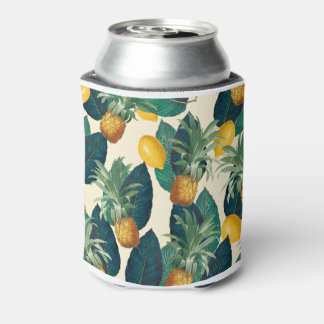 pineapple lemons yellow can cooler