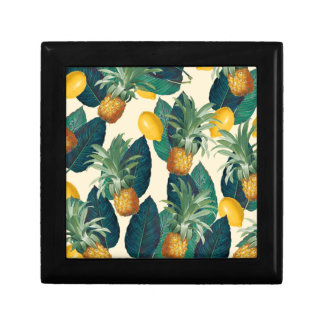 pineapple lemons yellow gift box