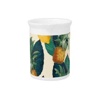 pineapple lemons yellow pitcher