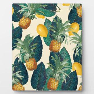 pineapple lemons yellow plaque