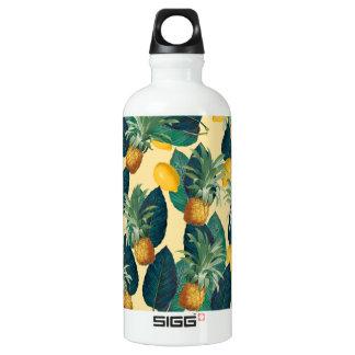 pineapple lemons yellow water bottle