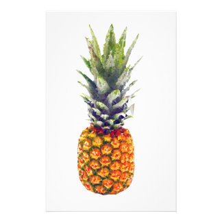 Pineapple Low-Poly Triangulated Stationery