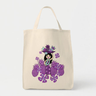 Pineapple Luau Tropical Grocery Bags