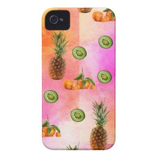 PINEAPPLE MANDARIN AND KIWI PATTERN iPhone 4 CASE