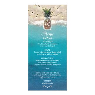 Pineapple Mason Jar Tropical Beach Wedding Menu