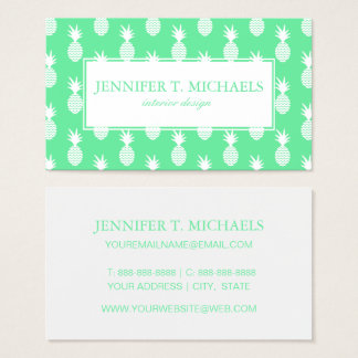 Pineapple Mint Pattern Business Card
