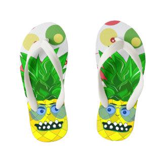 pineapple monster illustration thongs