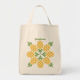 Pineapple Motif Tote Bag