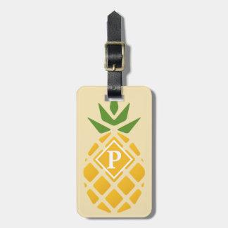 Pineapple Motif w/ ID on Back Luggage Tag
