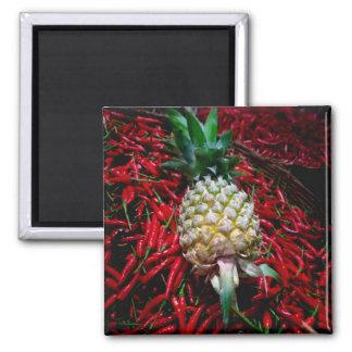 Pineapple n peppers magnet