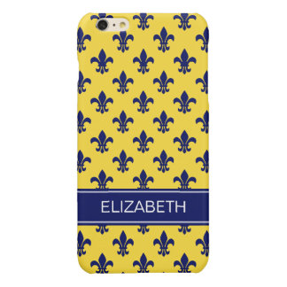 Pineapple Navy Fleur de Lis Navy Name Monogram