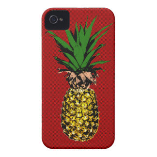 Pineapple Newsprint Image iPhone 4 Case-Mate Cases