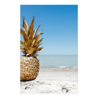 Pineapple on the Beach Stationery