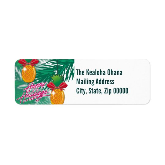 pineapple orn ~ mailing label return address label