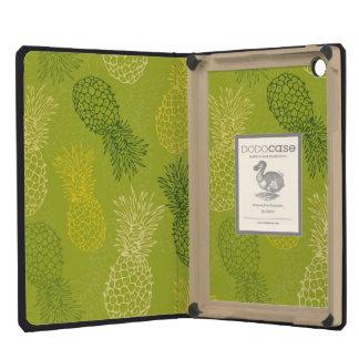 Pineapple Outline Pattern on Green iPad Mini Retina Case