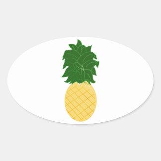 Pineapple Oval Sticker