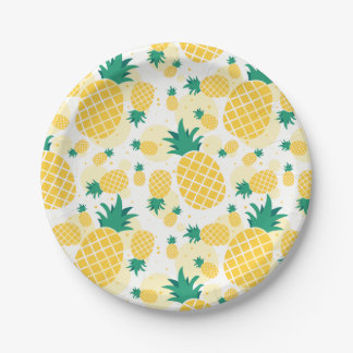 Pineapple Paper Plates 7""