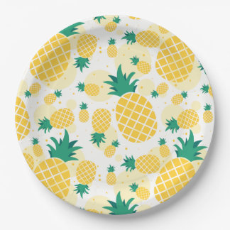 Pineapple Paper Plates 9""