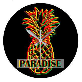 Pineapple Paradise Large Clock