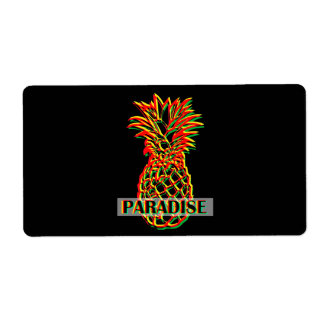 Pineapple Paradise Shipping Label