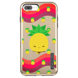 Pineapple Party Pink Color Waves iPhone Case