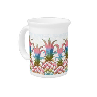 Pineapple Pastel Gradient ID246 Drink Pitchers