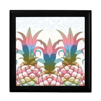 Pineapple Pastel Gradient ID246 Large Square Gift Box