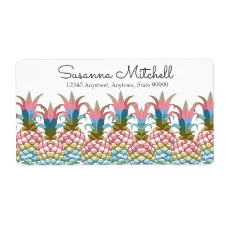 Pineapple Pastel Gradient ID246 Shipping Label