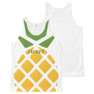 Pineapple Pattern All-Over Print Singlet