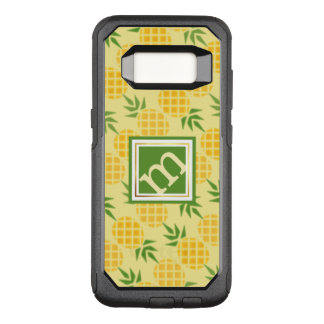 Pineapple Pattern - Angled Monogram OtterBox Commuter Samsung Galaxy S8 Case