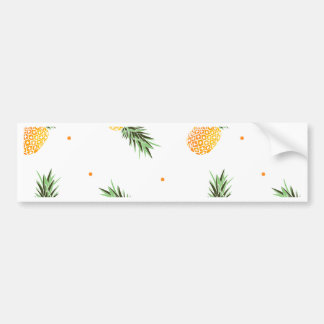 Pineapple Pattern Bumper Sticker