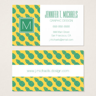 Pineapple Pattern Business Card