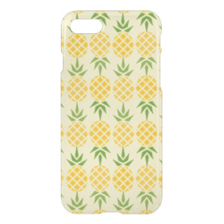Pineapple Pattern, Changeable Yellow Background iPhone 8/7 Case