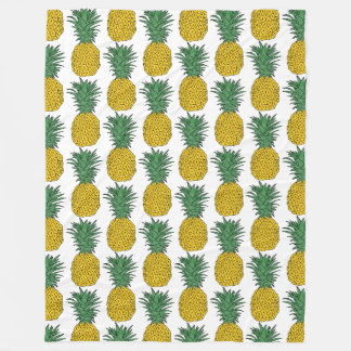 Pineapple Pattern Fleece Blanket