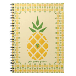 Pineapple Pattern Notebooks