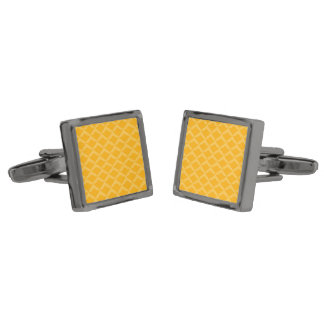 Pineapple Pattern... ... On many products. Gunmetal Finish Cuff Links