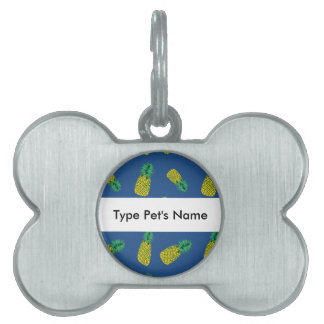 Pineapple Pattern on Pet Name Tag