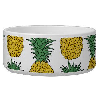 Pineapple Pattern Pet Water Bowl