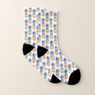 Pineapple pattern socks