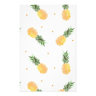 Pineapple Pattern Stationery