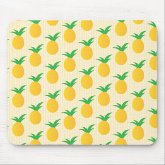 Pineapple Pattern Yellow Green Mouse Pad