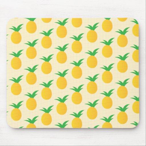 Pineapple Pattern Yellow Green Mousepads