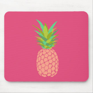 Pineapple +Pink Mouse Pad