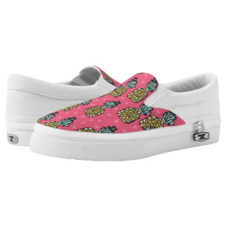 Pineapple Pink Tropical Exotic / Andrea Lauren Printed Shoes