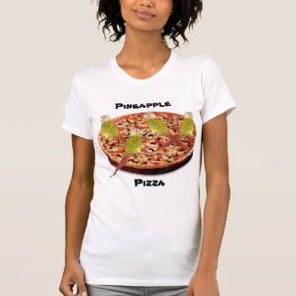 """Pineapple Pizza"" Parrot Pun Tees"