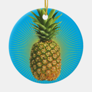 Pineapple Power Ceramic Ornament