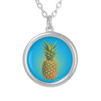 Pineapple Power Silver Plated Necklace