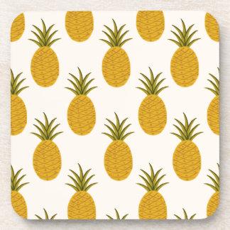 Pineapple Print Beverage Coasters
