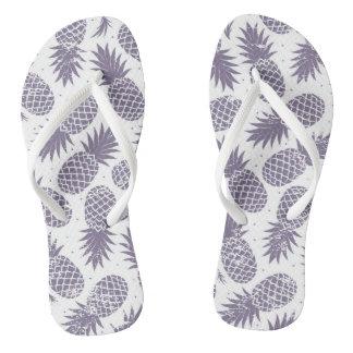 Pineapple print flip flops thongs